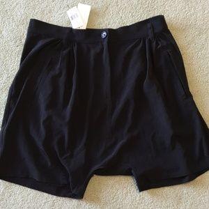 ELIZABETH AND JAMES black harem shorts